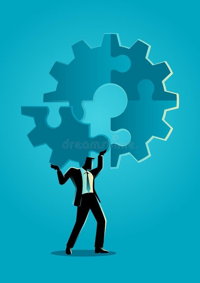 Pace finale del puzzle illustrazione di stock