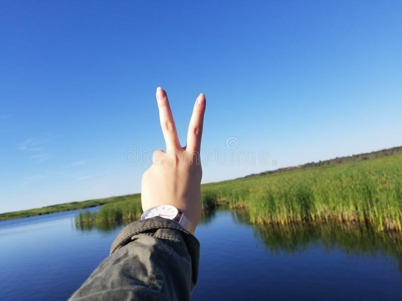 Pace fuori! fotografie stock libere da diritti