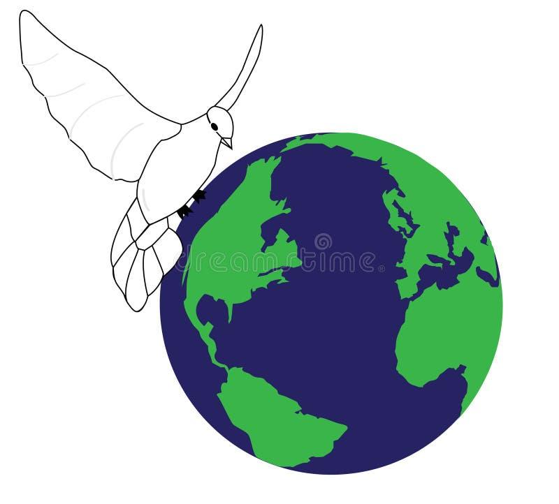 Pace nel mondo illustrazione di stock