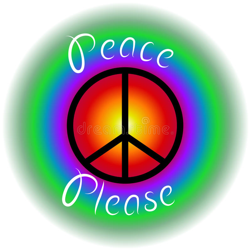 Pace per favore fotografia stock