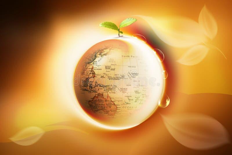 Pace su terra illustrazione vettoriale