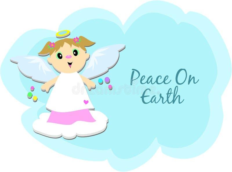 Pace sull'angelo della terra royalty illustrazione gratis