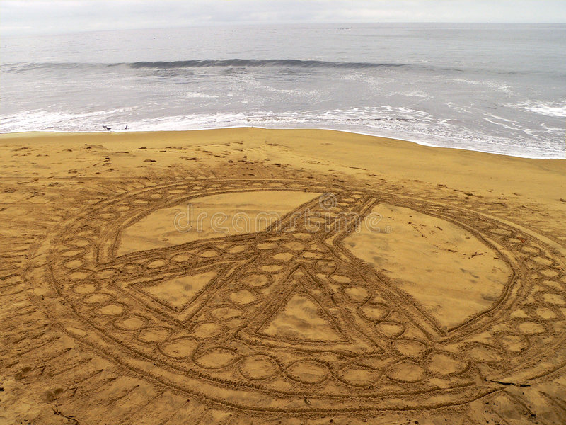 Download Pace Sulla Spiaggia Fotografia Stock Libera da Diritti - Immagine: 3445207