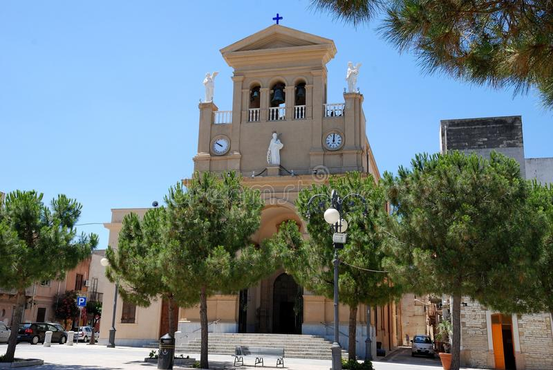 Download Paceco( Sicily) - Cathedral Church, Stock Photo - Image: 20060804