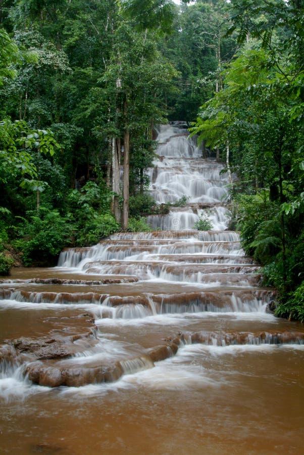 Pacharuen beautiful waterfall 2. royalty free stock images