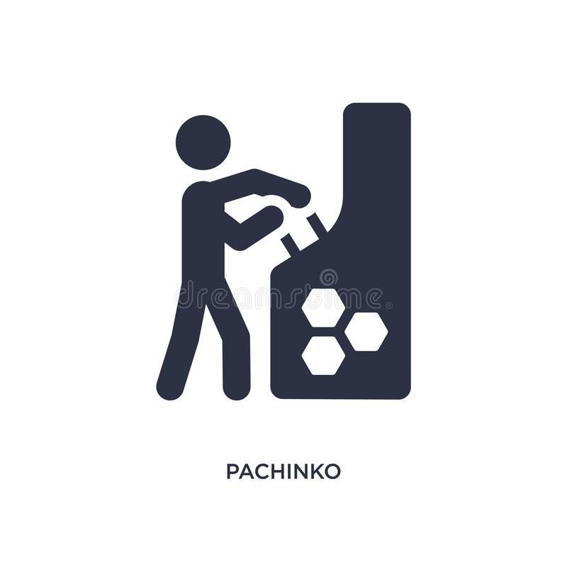 pachinko icon on white background. Simple element illustration from activity and hobbies concept vector illustration