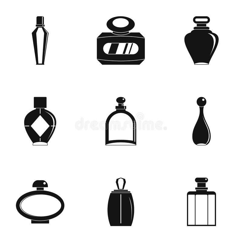 Pachnidło butelki formy ikony set, prosty styl ilustracji