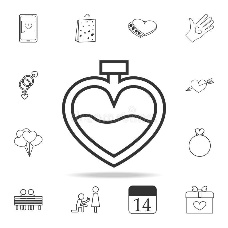 pachnidło w postaci kierowej ikony Set miłość elementu ikony Premii ilości graficzny projekt Znaki, konturów symboli/lów kolekcja ilustracja wektor
