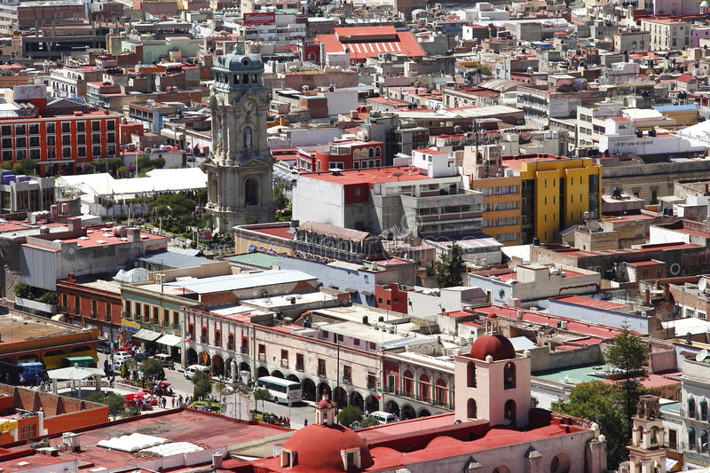 Pachuca III. View of the city of pachuca, capital of the mexican state of hidalgo royalty free stock image
