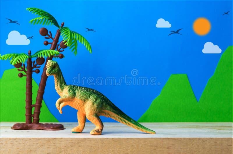 Pachycephalosaurus恐龙玩具模型 免版税图库摄影