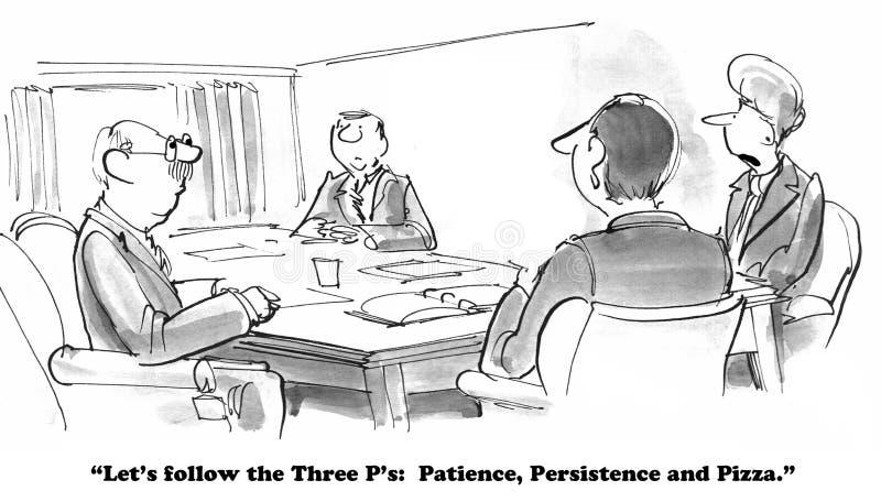 Paciencia, persistencia, pizza imagenes de archivo