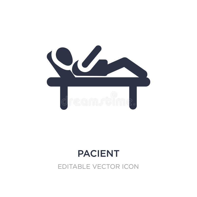 pacient значок на белой предпосылке Простая иллюстрация элемента от концепции людей бесплатная иллюстрация