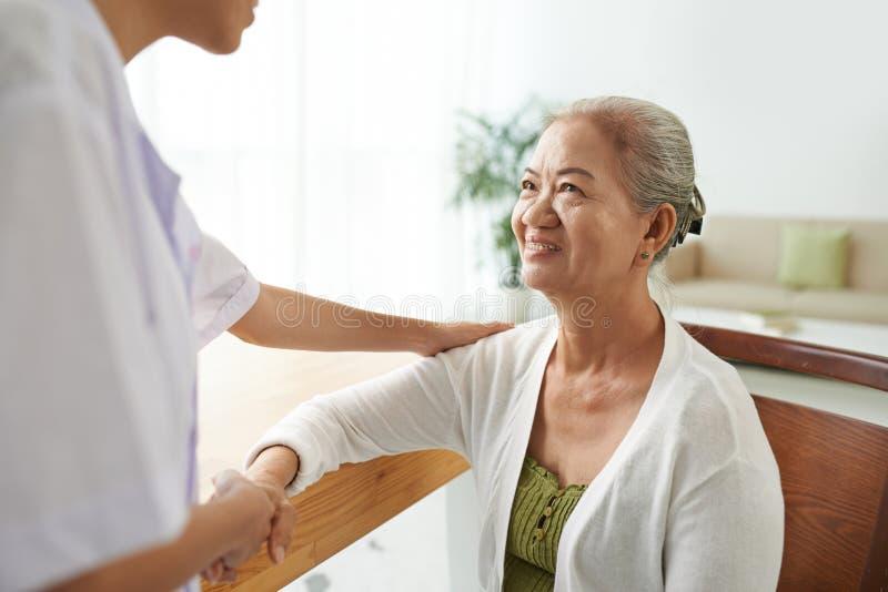 Paciente agradecido fotografía de archivo libre de regalías
