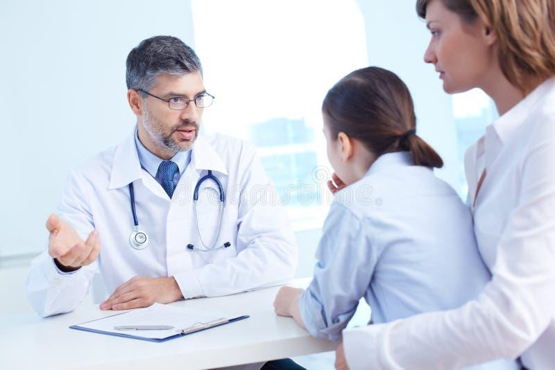 Paciente asesor imagen de archivo libre de regalías