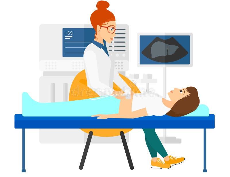 Paciente bajo examen del ultrasonido libre illustration