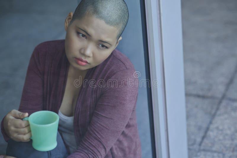 Paciente com câncer fotos de stock