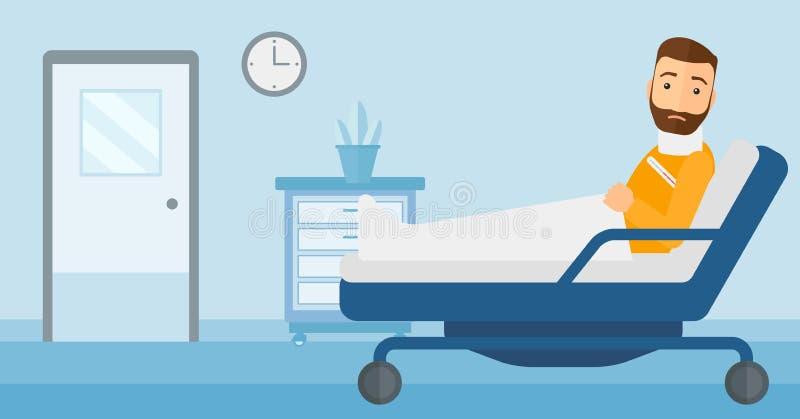 Paciente com pescoço ferido ilustração stock
