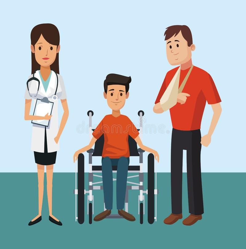 Paciente con el equipo médico libre illustration