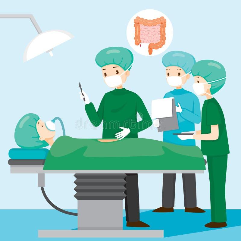 Paciente De Operate On Appendicitis Del Cirujano Ilustración del ...