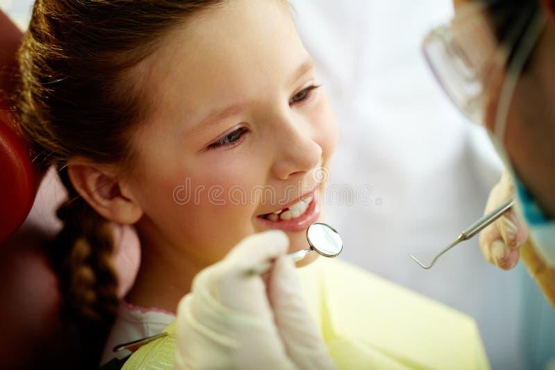 Paciente de sorriso foto de stock