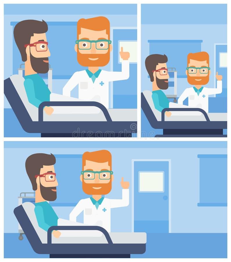 Paciente de visita do doutor ilustração do vetor