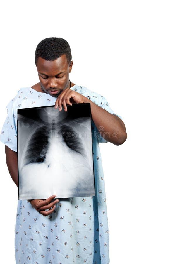 Paciente do homem negro foto de stock