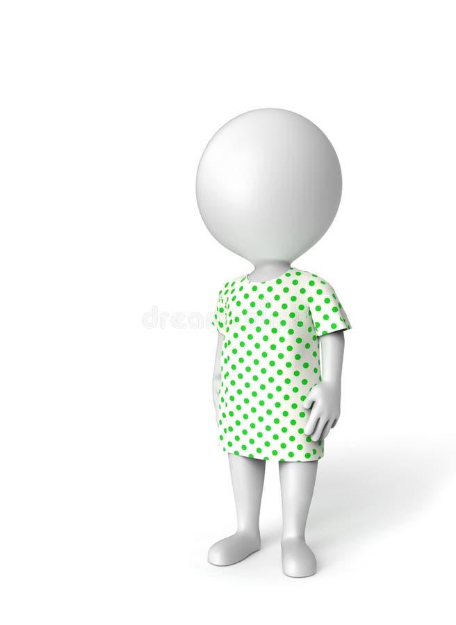 Paciente en blanco ilustración del vector