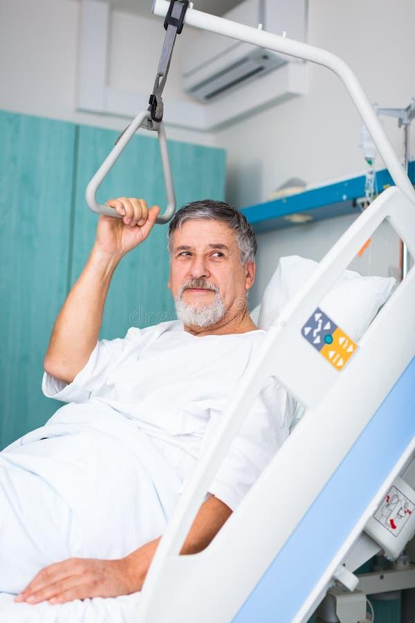 Paciente en hospital foto de archivo