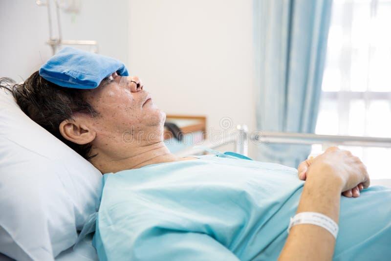 Paciente maduro del hombre mayor fotografía de archivo