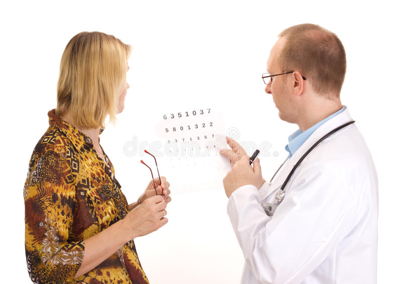 Paciente por um oftalmologista fotografia de stock royalty free