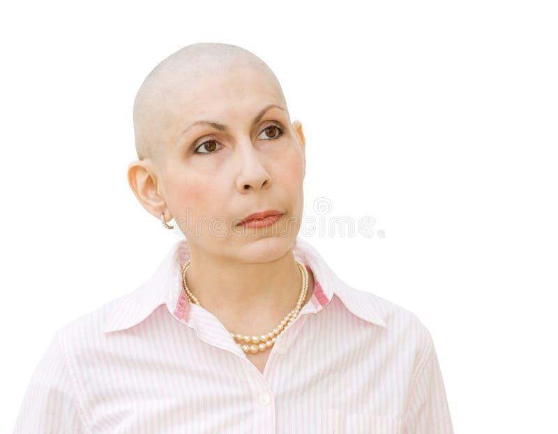 Paciente que sofre de cancro que submete-se à quimioterapia imagem de stock royalty free