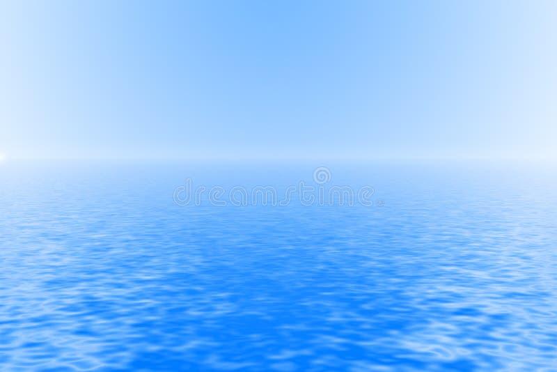 Ocean background royalty free illustration