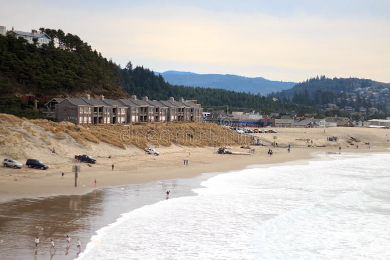 Pacific City Coast royalty free stock photography
