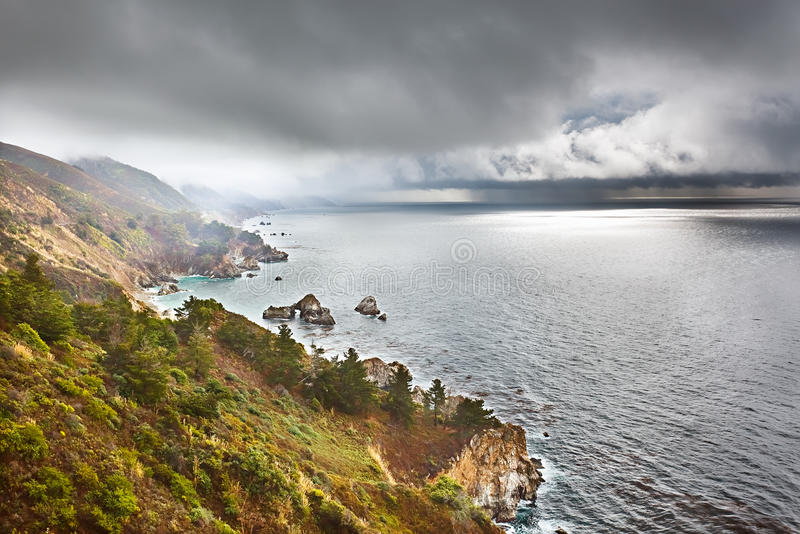 Download Pacific coast in Big Sur stock image. Image of california - 17791141