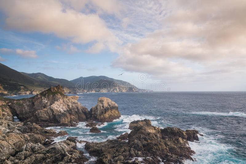 Pacific Coast in Big Sur, California royalty free stock images