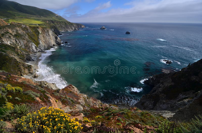 Pacific Coast Highway, 17 Mile Drive, California.  royalty free stock photos