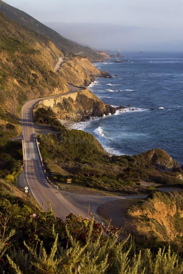 Pacific Coast Highway. The Pacific Coast Highway winds along the Big Sur coastline in California stock image