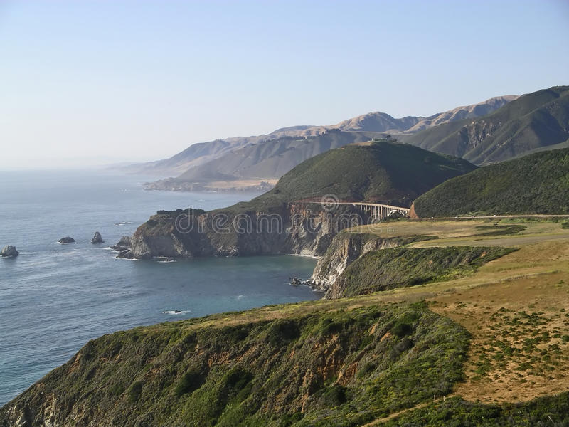 Pacific Coast Highway, Big Sur, California. A section of the spectacular Pacific Coast Highway Route 1 in California royalty free stock photography