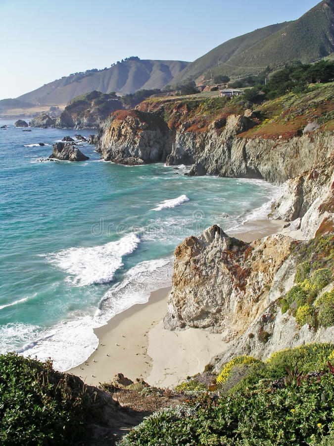 Pacific Coast Highway, Big Sur, California stock image