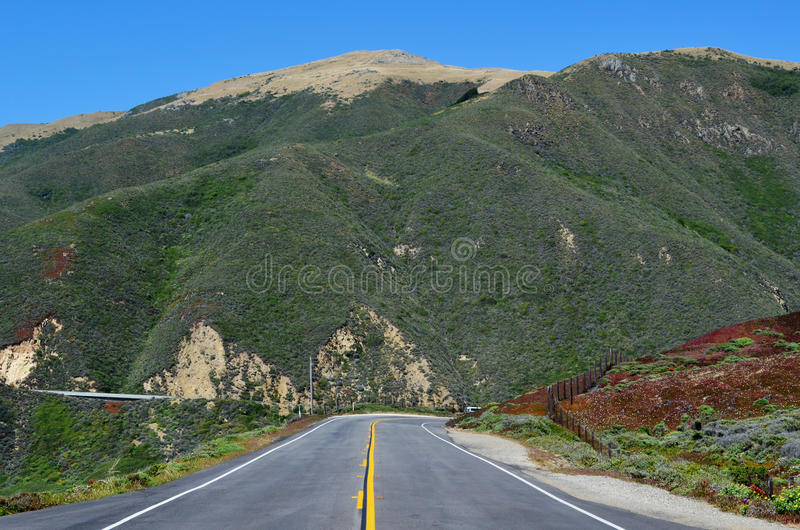 Pacific Coast Highway, Big Sur, California, USA. Between Morro Bay and Monterey royalty free stock photography