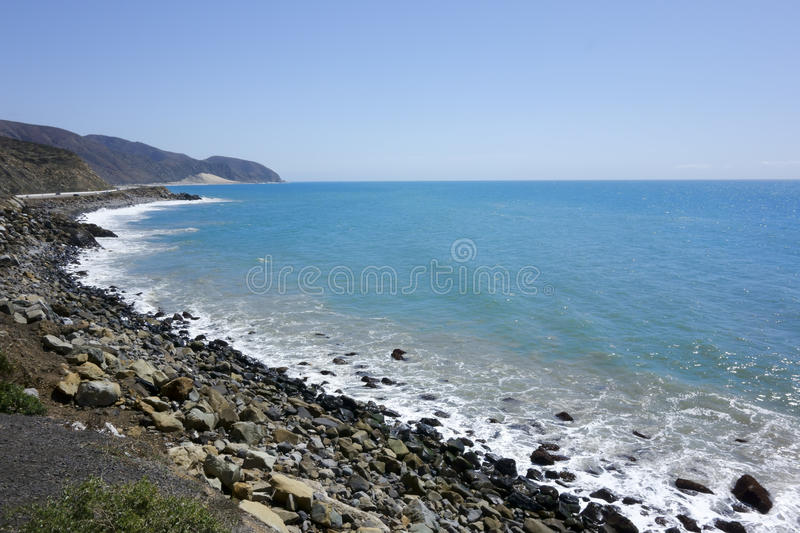 Pacific Coast Highway 1. California Pacific Coast Highway One as seen from Point Mugu, Ventura County, CA stock image