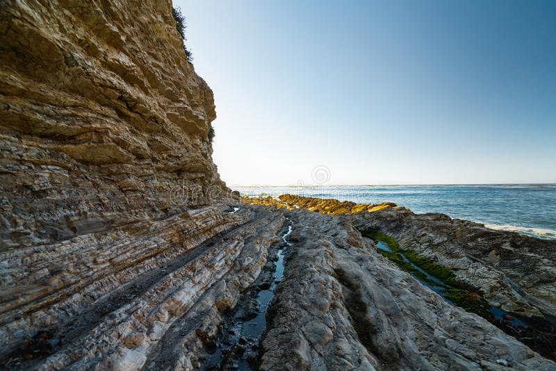 Cliffs in the Ocean, Pacific Coast Highway, California. Pacific Coast Highway, Cliffs in the Ocean, California royalty free stock images
