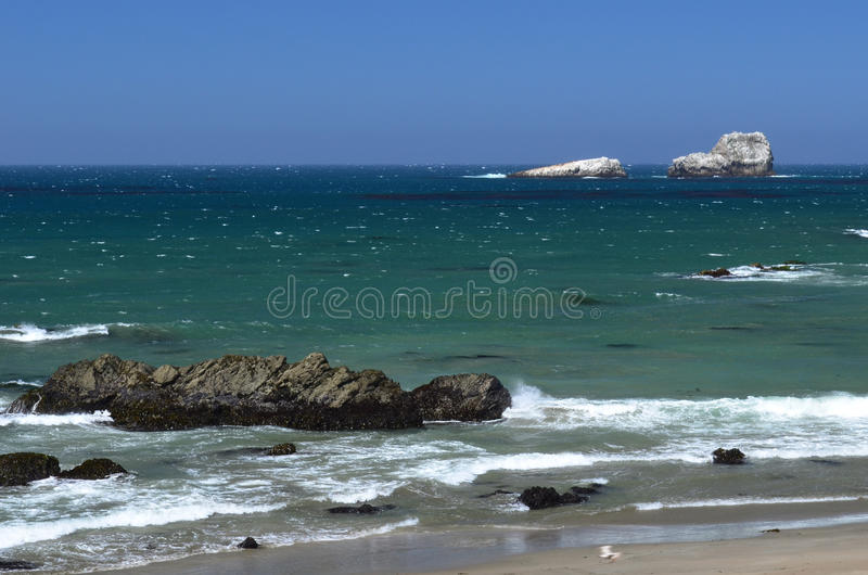 Pacific Coast, between Morro Bay and Monterey, California, USA stock photo