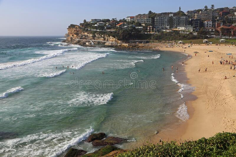 View at Bronte beach royalty free stock photo
