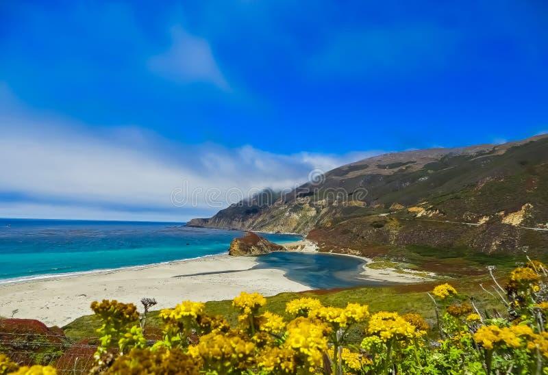 The Pacific Coast Postcard at Big Sur, CA. The Pacific Coast Postcard - Big Sur, CA stock images