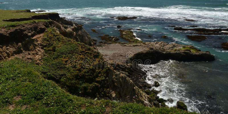 Pacific coasts Impressions of Point Arena Light, California USA stock images