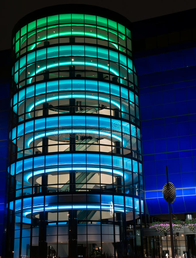 Free Pacific Design Center At Night. Royalty Free Stock Image - 21181336