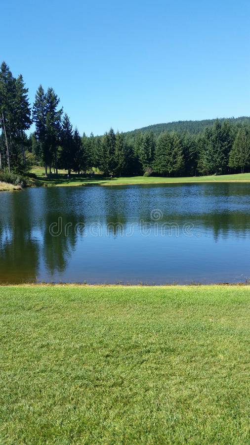 Pacific Northwest Golf Course royalty free stock photo