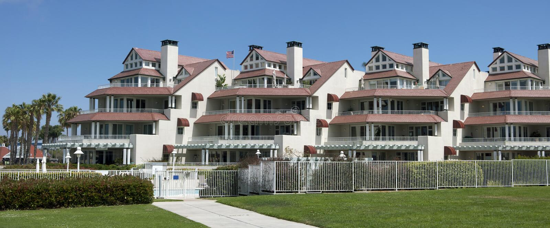 Download Pacific Ocean Beach Front Condominiums Stock Image - Image: 19985301