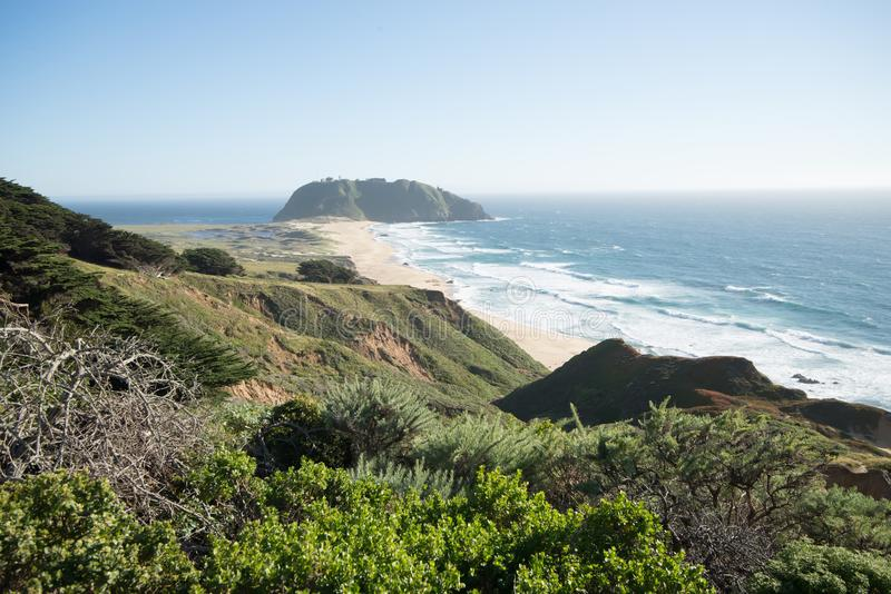 Pacific ocean big sur coatal beaches and landscapes royalty free stock photography
